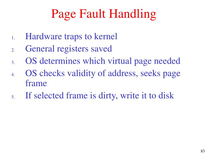 Page Fault Handling