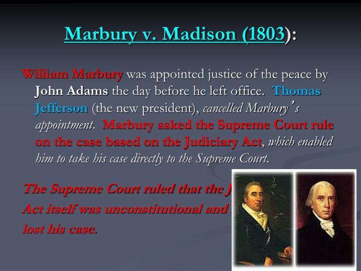 Marbury v. Madison (1803
