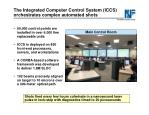 the integrated computer control system iccs orchestrates complex automated shots