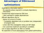 advantages of ssa based optimizations