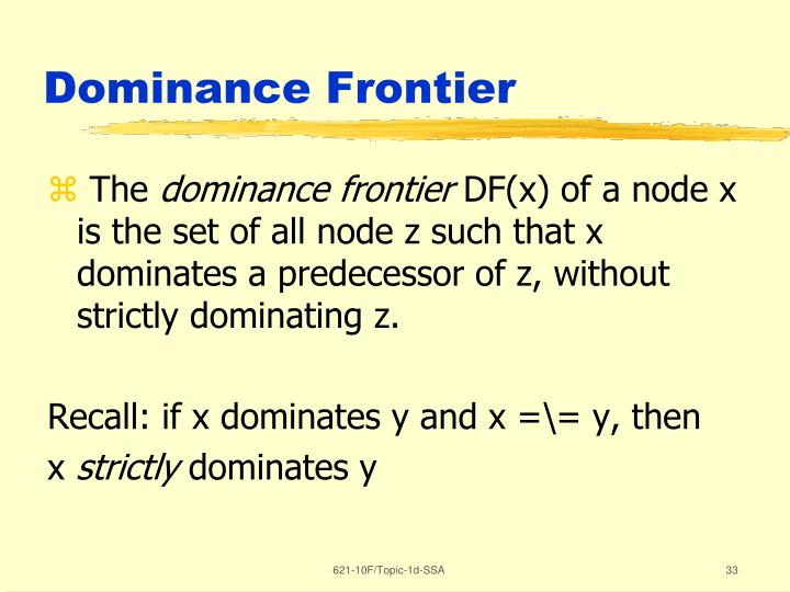 Dominance Frontier