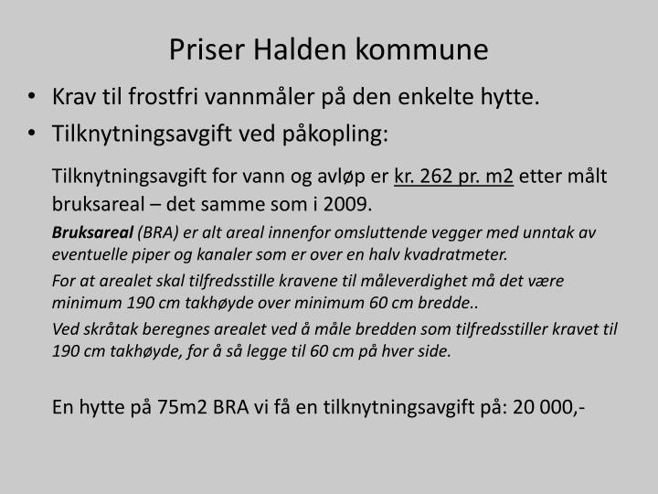 Priser Halden kommune