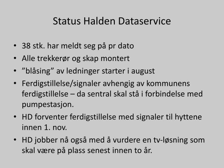 Status Halden Dataservice
