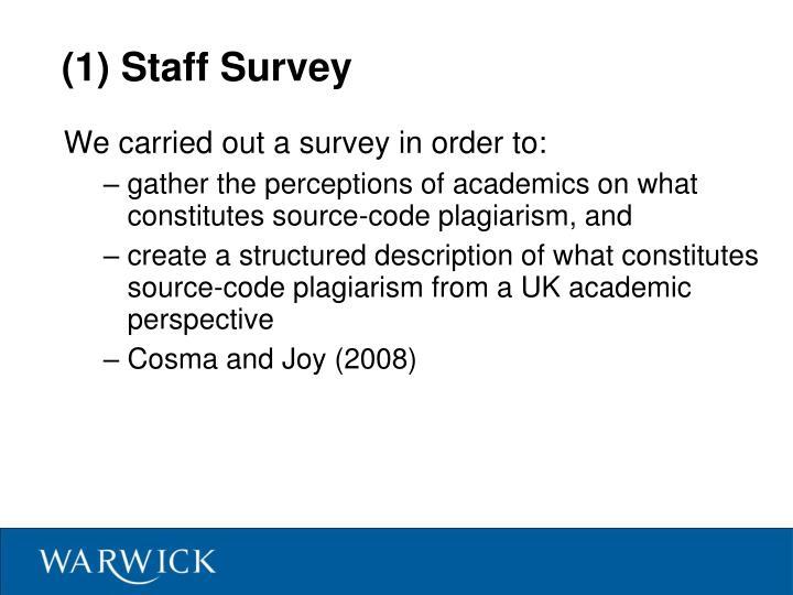 (1) Staff Survey
