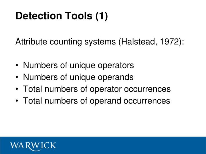 Detection Tools (1)