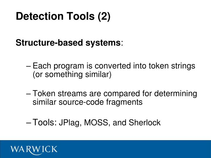 Detection Tools (2)