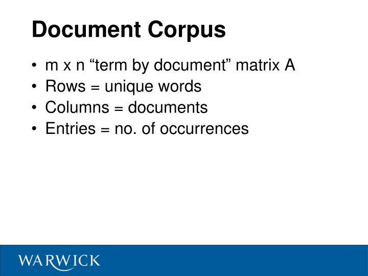 Document Corpus
