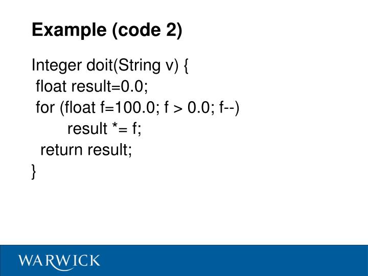 Example (code 2)