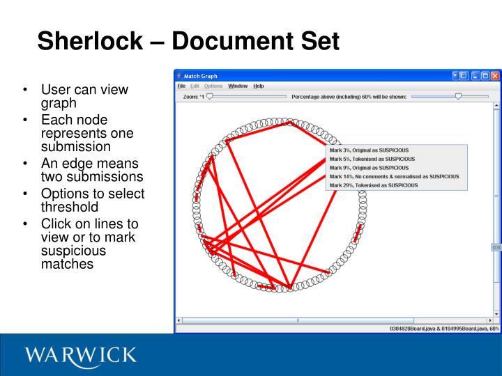 Sherlock – Document Set