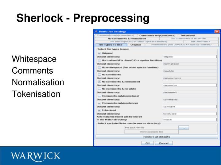 Sherlock - Preprocessing