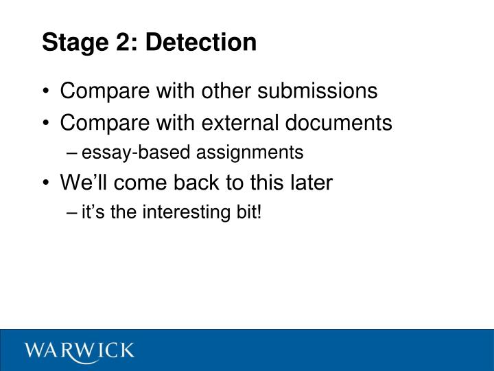 Stage 2: Detection