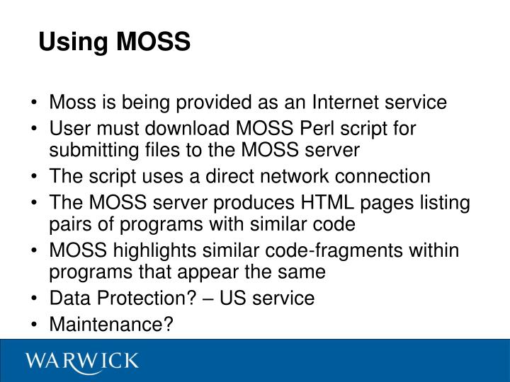 Using MOSS