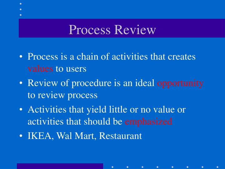 Process Review