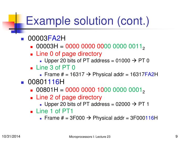 Example solution (cont.)
