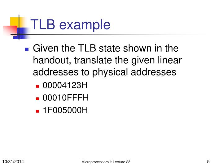 TLB example