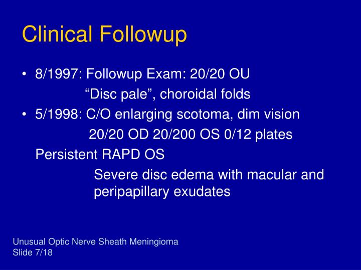 Clinical Followup