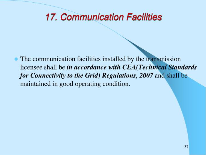 17. Communication Facilities