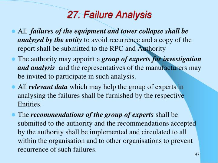 27. Failure Analysis