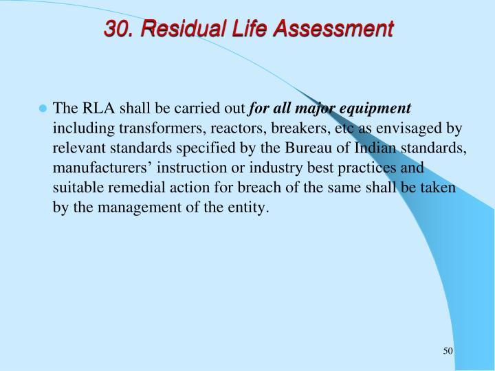 30. Residual Life Assessment