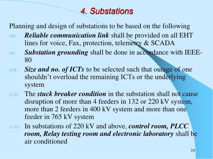 4. Substations