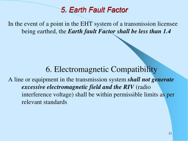 5. Earth Fault Factor