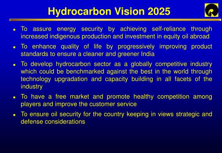 Hydrocarbon Vision 2025