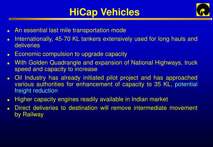 HiCap Vehicles