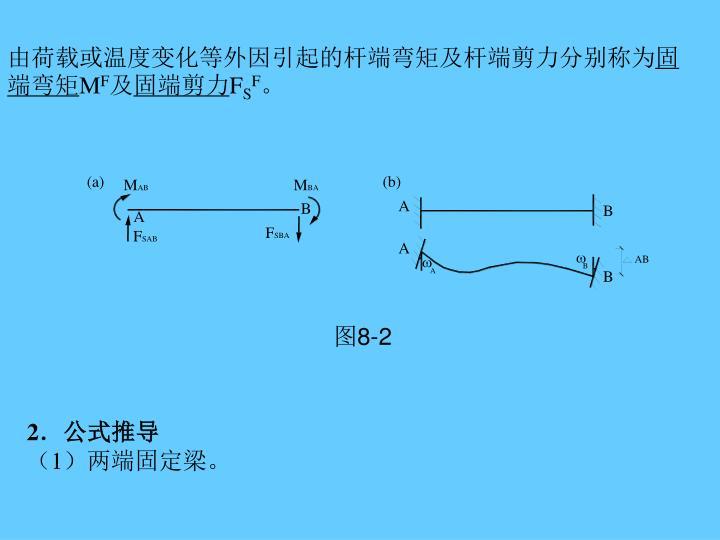 由荷载或温度变化等外因引起的杆端弯矩及杆端剪力分别称为