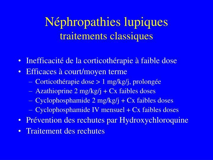 Néphropathies lupiques