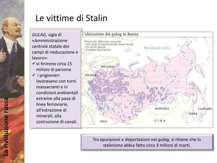 Le vittime di Stalin