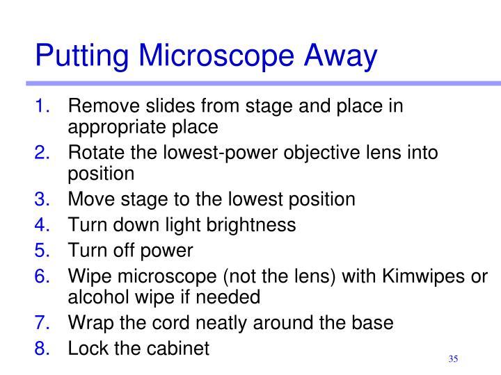 Putting Microscope Away