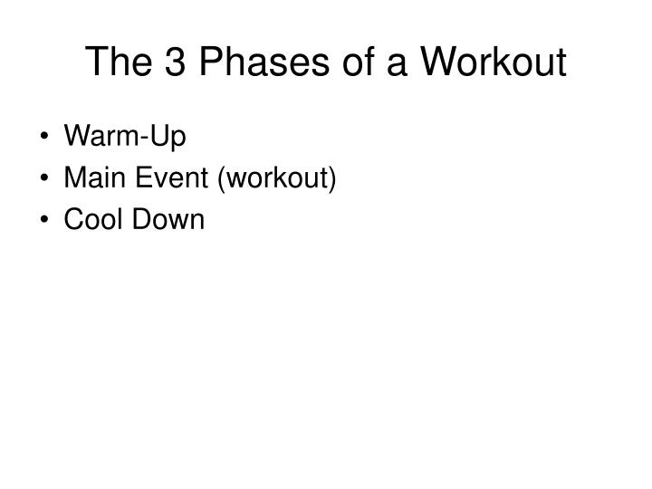 The 3 Phases of a Workout