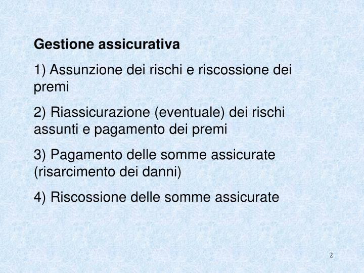 Gestione assicurativa