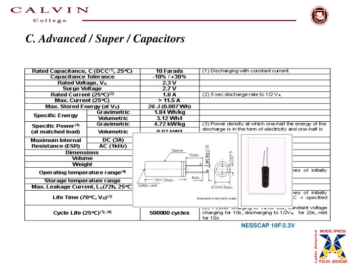 C. Advanced / Super / Capacitors