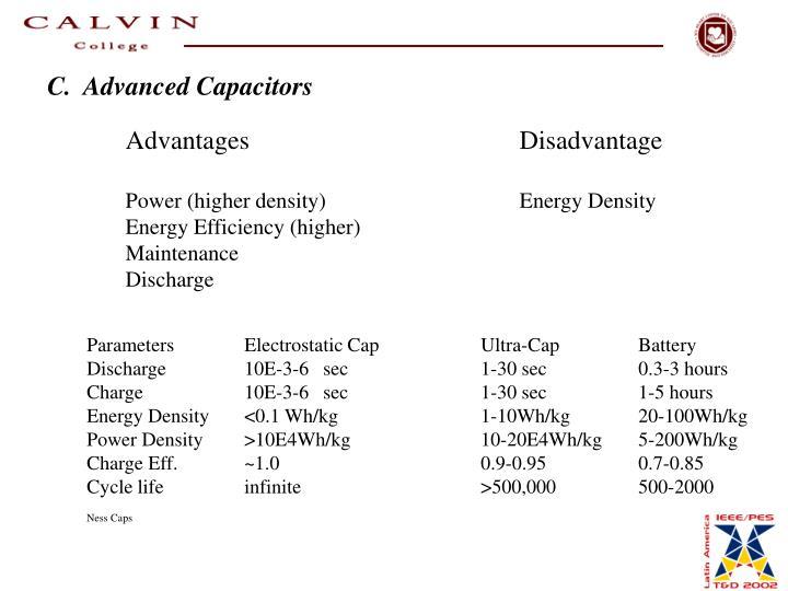 C.  Advanced Capacitors