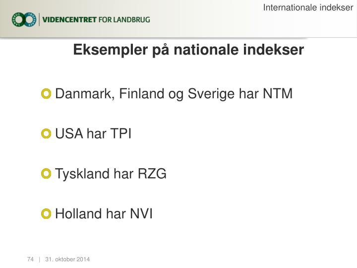 Internationale indekser
