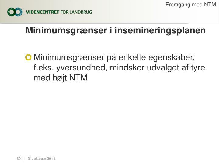 Fremgang med NTM