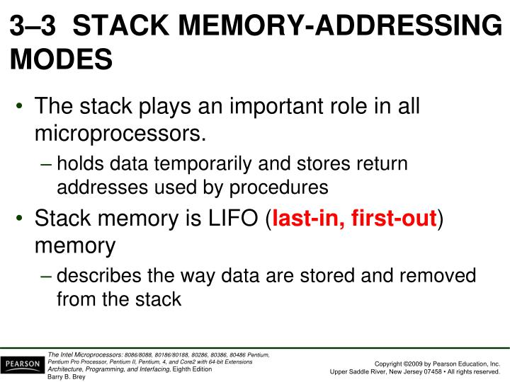 3–3  STACK MEMORY-ADDRESSING MODES