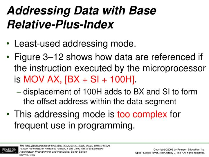 Addressing Data with Base Relative-Plus-Index