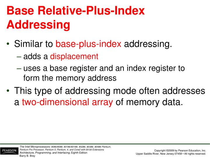 Base Relative-Plus-Index Addressing