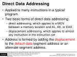 direct data addressing