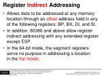 register indirect addressing
