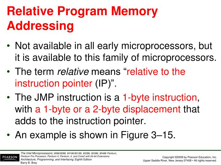 Relative Program Memory Addressing