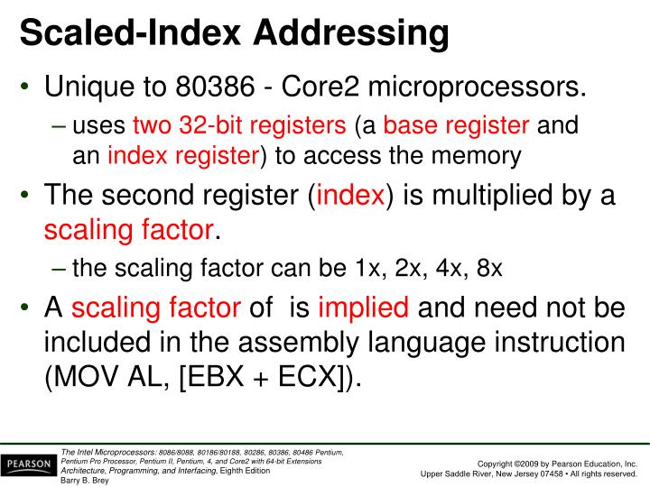 Scaled-Index Addressing