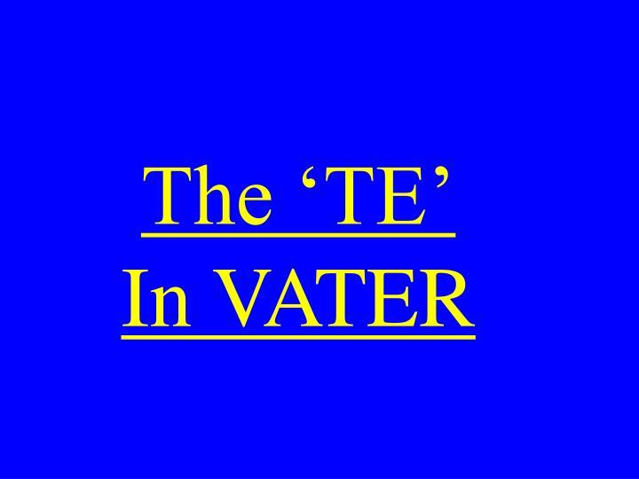 The 'TE'