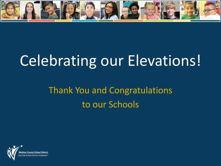 Celebrating our Elevations!