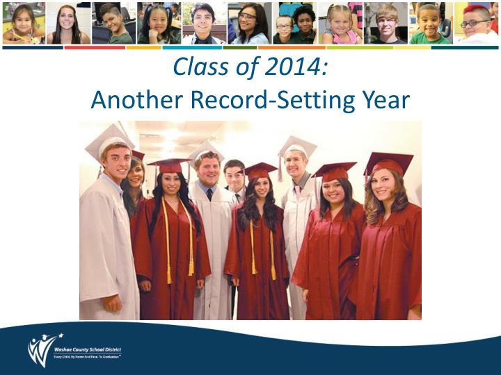 Class of 2014: