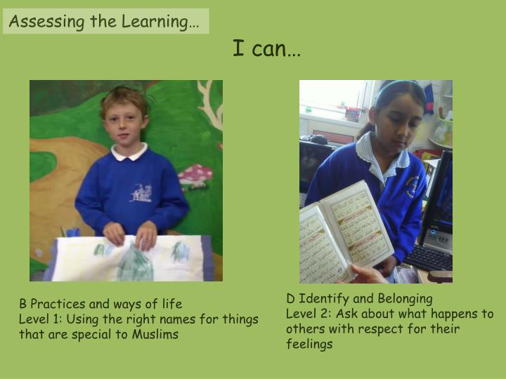 Assessing the Learning…