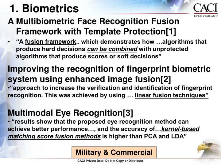 1. Biometrics