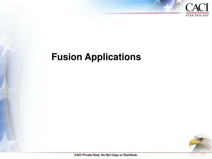 Fusion Applications